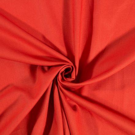 Tissu Coton uni Brique - Par 10 cm
