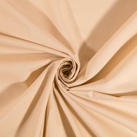 Tissu Coton uni Beige foncé -Par 10 cm