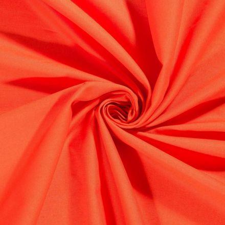 Tissu Coton uni Orange nacré - Par 10 cm