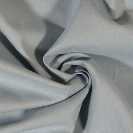 Tissu Coton uni Bleu gris - Par 10 cm