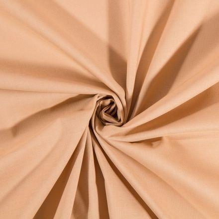 Tissu Coton uni Camel - Par 10 cm