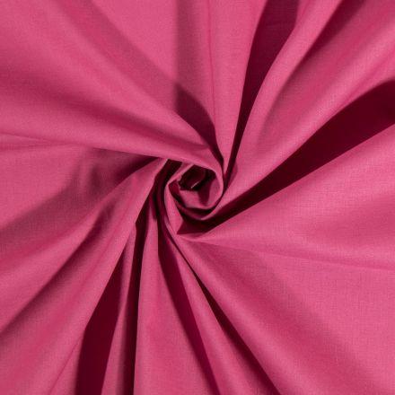 Tissu Coton uni Lie de vin - Par 10 cm