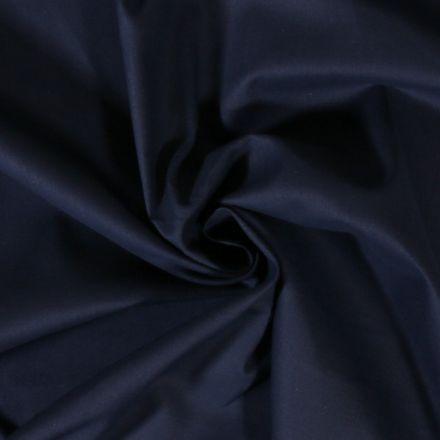 Tissu Coton uni Bleu marine - Par 10 cm