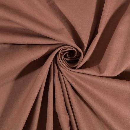 Tissu Coton uni Taupe - Par 10 cm