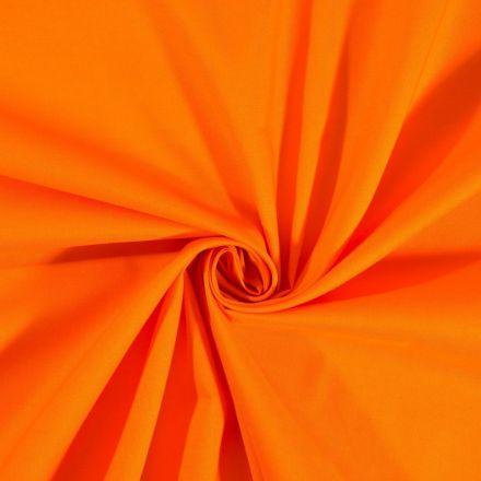 Tissu Coton uni Orange - Par 10 cm