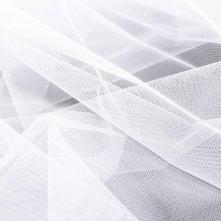 Tissu Moustiquaire grande largeur 20D  Blanc - Par 10 cm