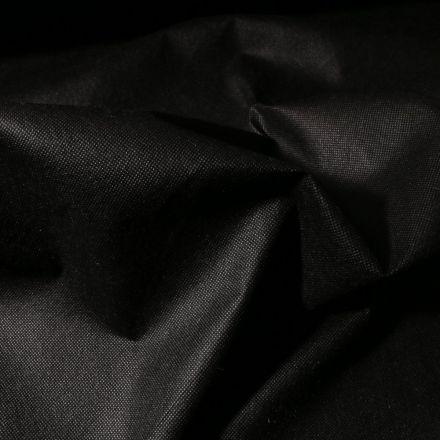 Tissu Non tissé Noir - Par 10 cm