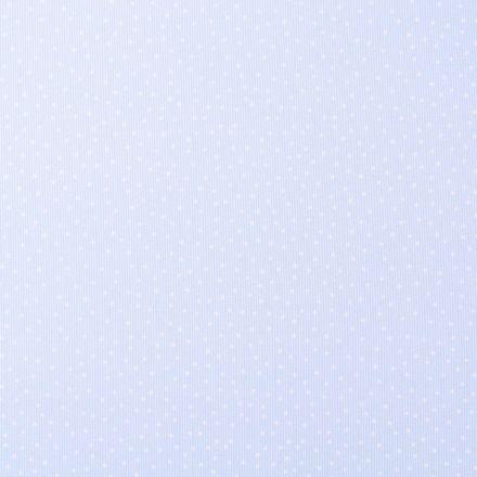 Tissu Piqué de Coton Pois blancs sur fond Bleu ciel - Par 10 cm