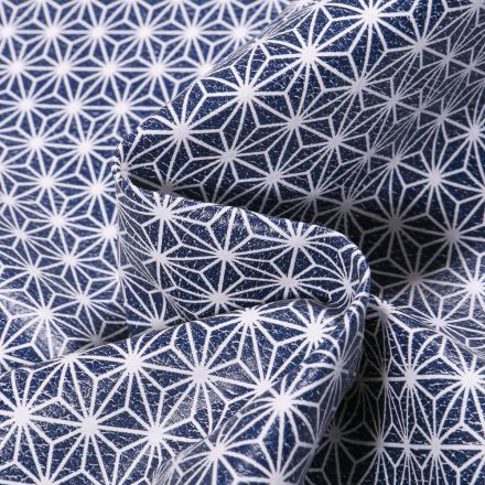 Tissu Simili cuir d'ameublement Casual Bleu marine