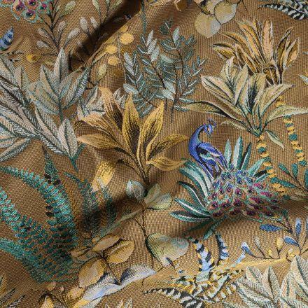 Tissu Toile jacquard Amadeus sur fond Or - Par 10 cm