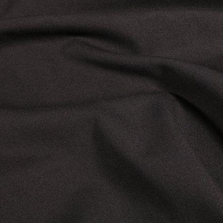 Tissu Toile de coton uni Grande largeur Noir - Par 10 cm