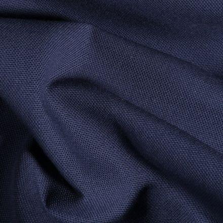 Tissu Toile de coton uni Grande largeur Bleu indigo - Par 10 cm