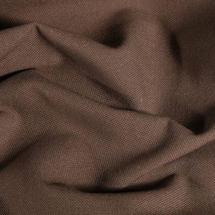 Tissu Toile de coton uni Grande largeur Taupe - Par 10 cm