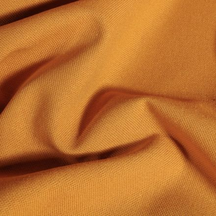 Tissu Toile de coton uni Grande largeur Jaune curcuma - Par 10 cm