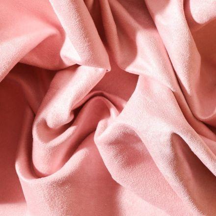 Tissu Suédine d'ameublement Rose - Par 10 cm