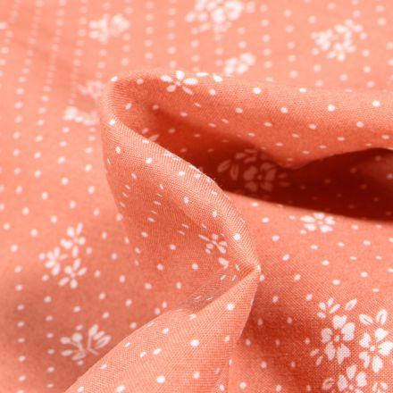 Tissu Viscose Arty Gabrielle sur fond Rose nude