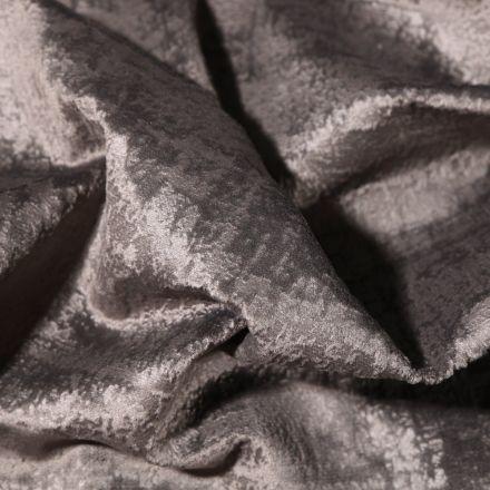 Tissu Velours d'ameublement Illusion Gris anthracite - Par 10 cm