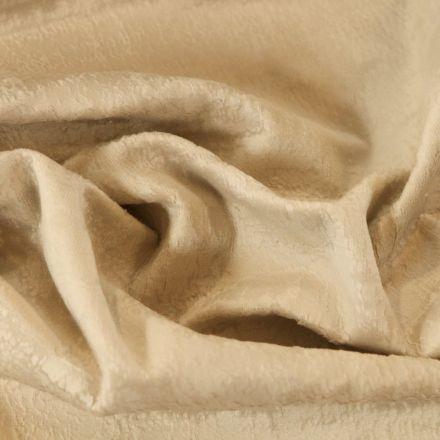 Tissu Velours d'ameublement Illusion Ecru - Par 10 cm
