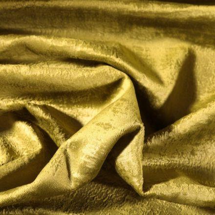 Tissu Velours d'ameublement Illusion Vert - Par 10 cm