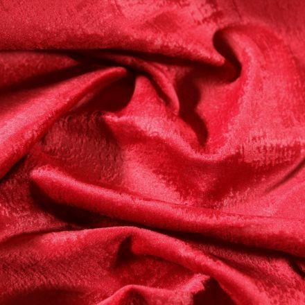 Tissu Velours d'ameublement Illusion Rouge - Par 10 cm
