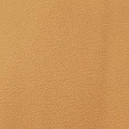 Simili cuir d'ameublement uni Or - Par 50 cm