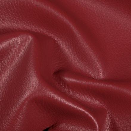 Simili cuir d'ameublement uni Bordeaux - Par 50 cm