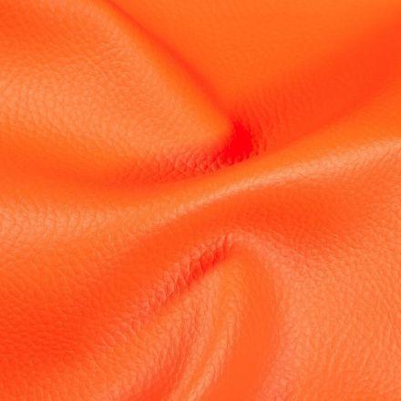 Simili cuir d'ameublement uni Orange - Par 50 cm
