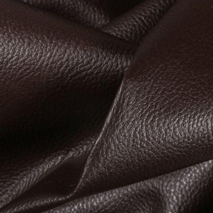 Simili cuir d'ameublement uni Marron chocolat - Par 50 cm