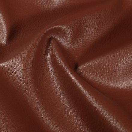 Simili cuir d'ameublement uni Marron - Par 50 cm
