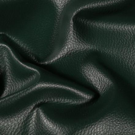 Simili cuir d'ameublement uni Vert sapin - Par 50 cm