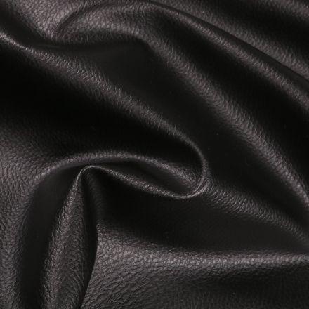 Simili cuir d'ameublement uni Noir - Par 50 cm
