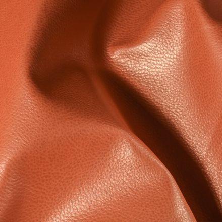 Simili cuir d'ameublement uni Cuivre - Par 50 cm