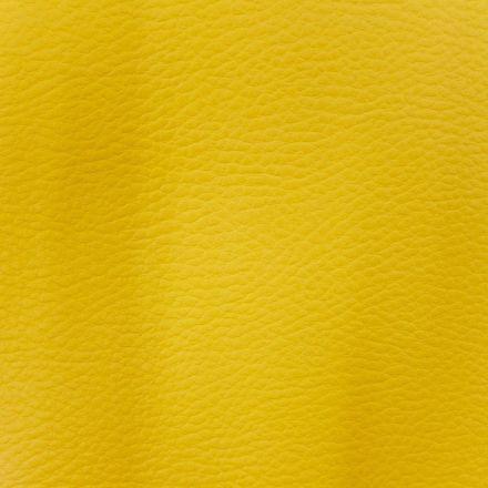 Simili cuir d'ameublement uni Jaune curcuma - Par 50 cm