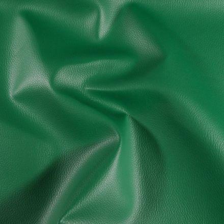 Simili cuir d'ameublement uni Vert épicéa - Par 50 cm