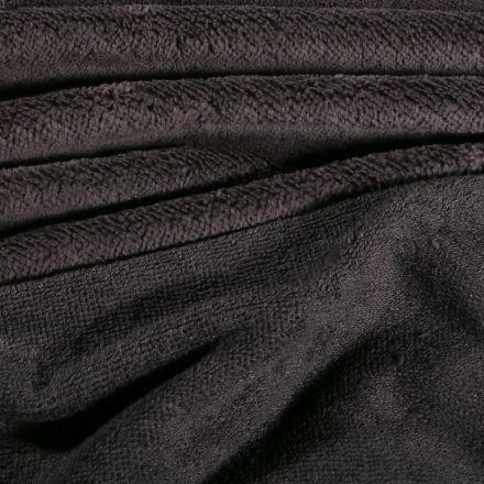 Tissu Micro Éponge Bambou Téa Gris anthracite