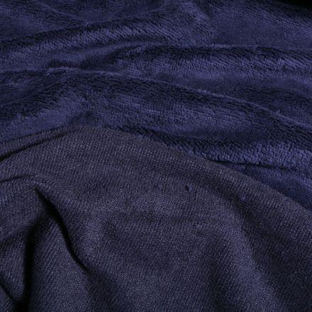 Tissu Micro Éponge Bambou Téa Bleu nuit