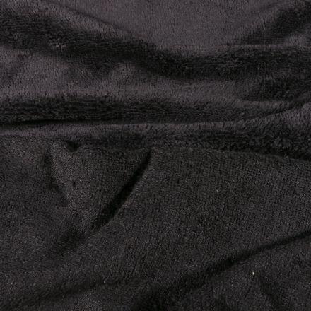 Tissu Micro Éponge Bambou Téa Noir ébène