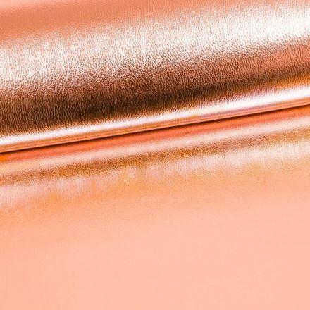 Simili Cuir Premium Métallisé Rose Gold - Par 50 cm