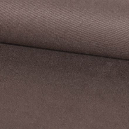 Tissu Coton Sergé d'ameublement uni Marron glacé - Par 10 cm