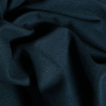 Tissu Coton Sergé d'ameublement uni Bleu nuit - Par 10 cm