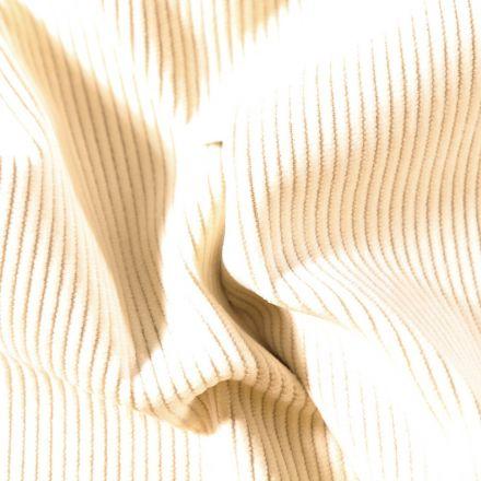 Tissu Velours d'ameublement côtelé Lena Ecru - Par 10 cm