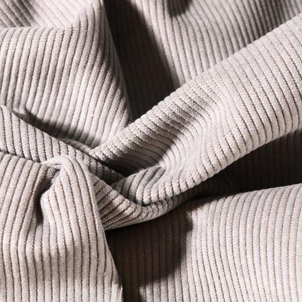 Tissu Velours d'ameublement côtelé Lena Gris souris - Par 10 cm
