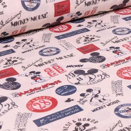 Tissu Disney Mickey Vintage sur fond Beige