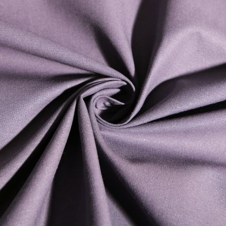 Tissu Coton uni Gris anthracite - Par 10 cm