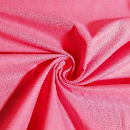 Tissu Coton uni Corail - Par 10 cm