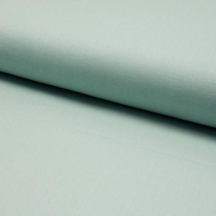 Tissu Coton uni Menthe - Par 10 cm