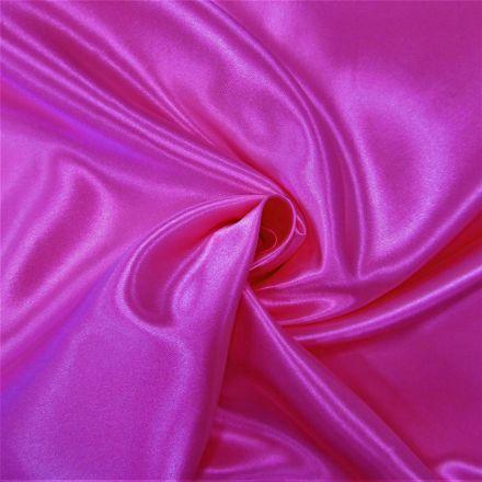 Tissu Doublure Satin Deluxe Fuchsia - Par 10 cm
