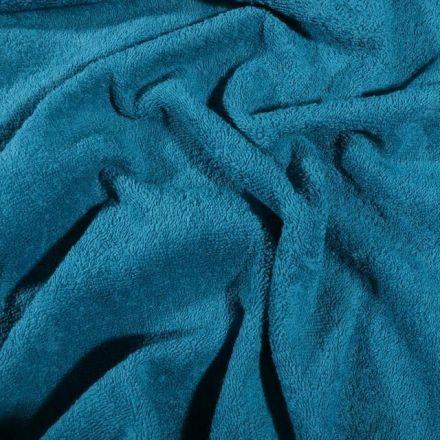 Tissu Eponge Premium 400 g/m² Bleu canard - Par 10 cm