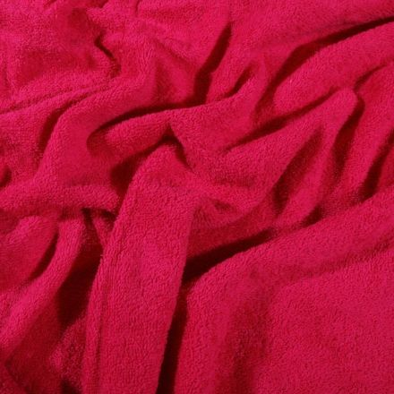Tissu Eponge Premium 400 g/m² Fuchsia - Par 10 cm