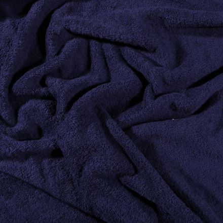 Tissu Eponge Premium 400 g/m² Bleu marine - Par 10 cm